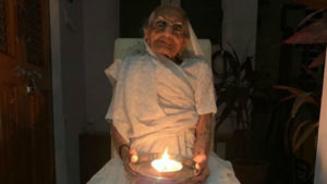Holding Diya In Hand, PM Modi's Mother Responds To Lights-Out Call